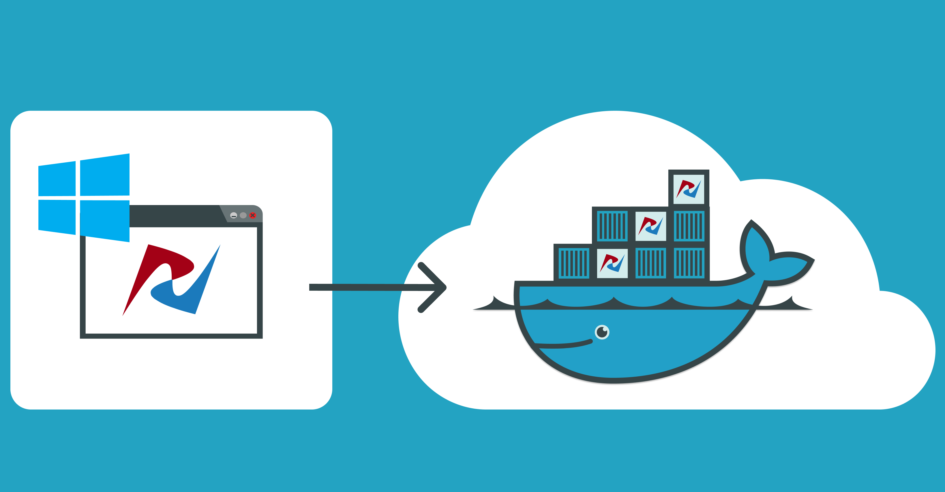 How to build docker images for Windows desktop applications.
